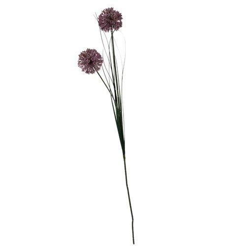 Kunstblume Allium in Lila mit 2 Blüten, 76 cm