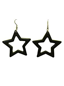 1980's Black Star Earrings