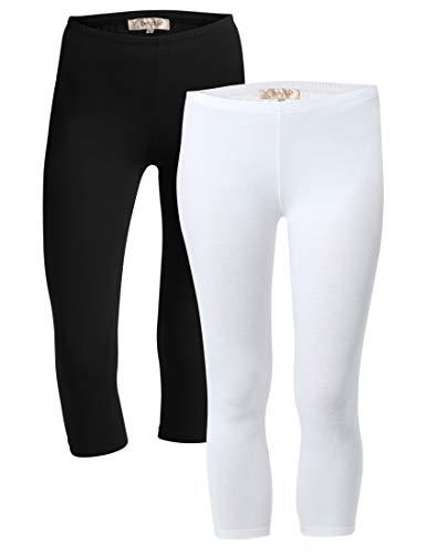 Berydale Capri Leggings, Mehrfarbig (Schwarz/Weiß 2er Pack), Wna(Herstellergröße: M),