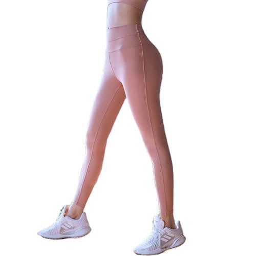 QTJY Pantalones de Yoga, Pantalones de Gimnasia de Cintura Alta para Levantar la Cadera, Mallas elásticas y de Secado rápido para Correr al Aire Libre A Small