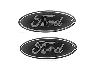 Sparkoo F-57B 2X Black Steering Wheel Logo Emblem Badge Overlay Decal For F-150 F-250 F-350  0.875in x 2.25in   Black
