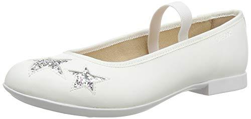 Geox JR Plie' G, Ballerine Donna, Bianco (White C1000), 36 EU
