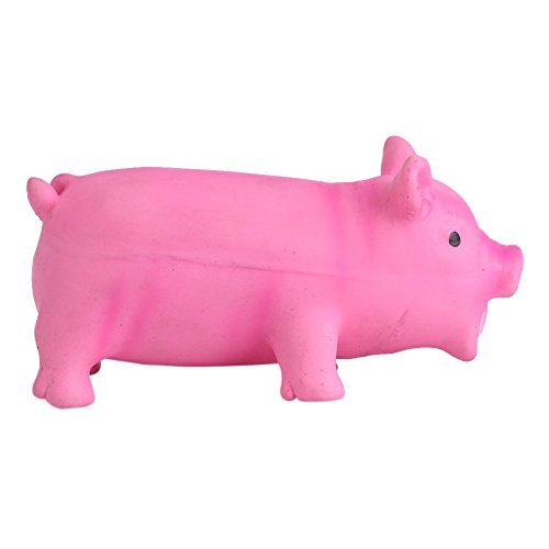 Haustier Spielzeug weiches Latex Hundespielzeug Schwein Spielzeug Haustier lustiges Welpen Ton Kauen Biss Spielzeug mit realistischem Schwein Grunzen Ton Kind Kind Spiel Versorgungsmaterialien(M-Rosa)