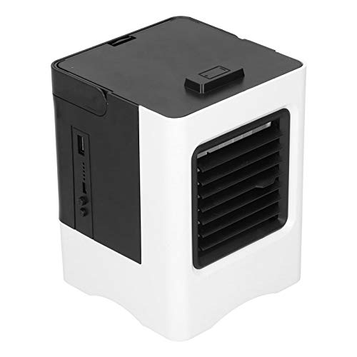 Zerodis Small Portable Refrigeration Air‑Conditioning Fan Black Mini USB Air Cooler Mini Space Cooling Fan for Home and Office