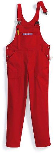 BP 1409-720-81-52 Latzhose, Stretch-Hosenträger mit Clipbefestigungen, 305,00 g/m² Verstärkte Baumwolle, rot ,52