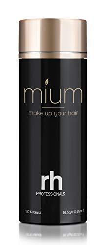 MIUM ® 26.5 G Premium Schütthaar Streuhaar Haarfasern - Sofort Haarverdichtung bei lichtem oder feinem Haar, 100% Natur, XXL (Mediumbraun)