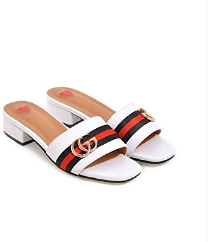 WHW Women's Low Heel Wedge Heel Open Toe Sandals Party Evening Dress