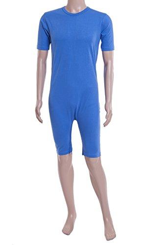 Care Better | Pflegebody, Pflegeoverall mit Kurzen Armen und Beinen, Farbe Hellblau, S-XXXL (XX Large)