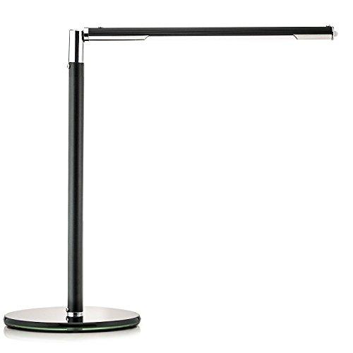 Saxonia Design Lampada da Tavolo LED 5W Lampada da Tavolo 3Livelli Nero