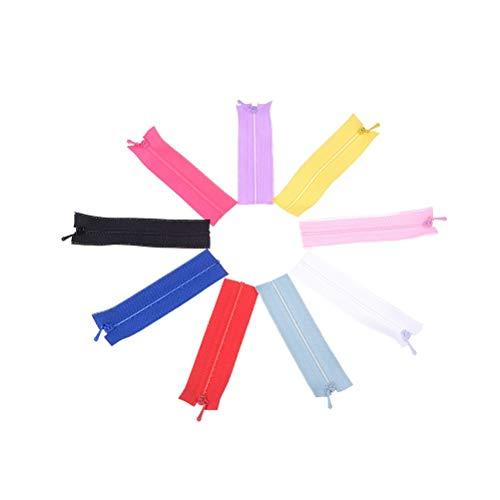 LIANG 5pcs/lot Colorful DIY Handmade Sewing Scrapbooking Garment Applique Accessory Mini Zipper Doll Clothing Zipper