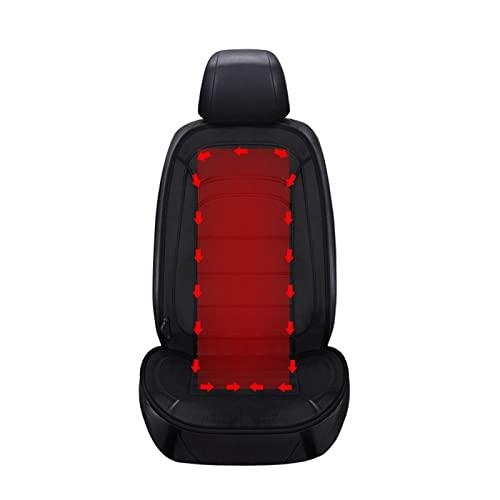Lebooa Cojín del automóvil del Calentador, la Almohadilla de calefacción de automóviles universales de 1 Pieza, con la Temperatura Inteligente y el Interruptor de Tiempo para (Negro)