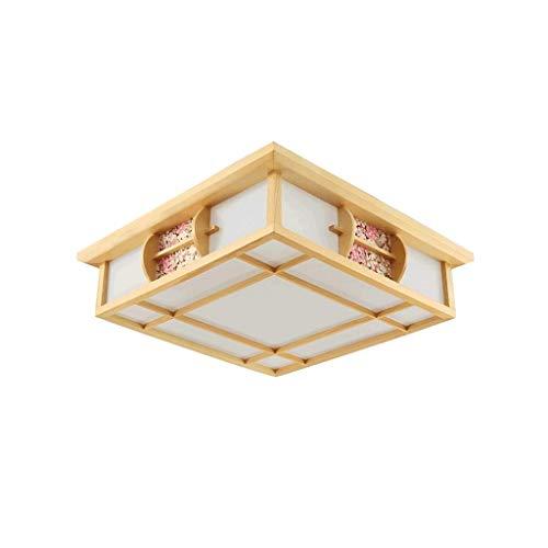 SPNEC Sólido Madera Techo lámpara Ahorro de energía, Sencillo y Moderno de la sombrilla de la lámpara de Techo, Sala de Estar Estudio Dormitorio Comedor lámpara