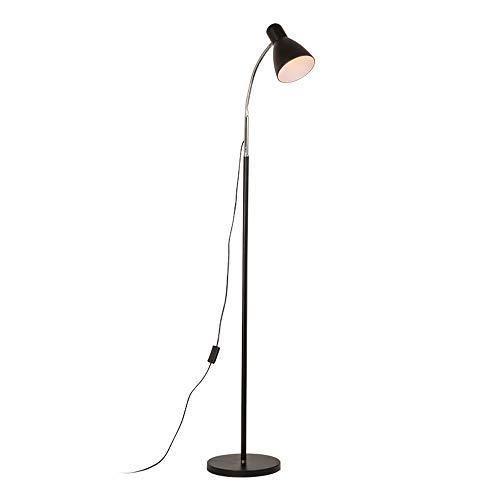 LEGELY Moderne staande lamp lampenkap van metaal zwart voor woonkamer slaapkamer decoratief licht staande lamp in hoogte verstelbaar