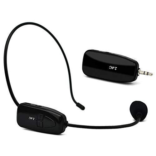 REFURBISHHOUSE 2.4G Wireless Microphone Headset Megafono Radio Bluetooth Microfono per Discorso Altoparlante Guida alla Riunione di Insegnamento