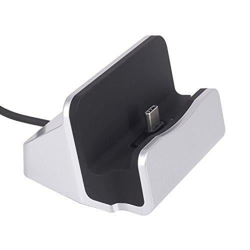 Tipo C caricabatteria da tavolo, Yilan durevole USB tipo C culla caricabatteria USB C stazione di ricarica supporto ricarica veloce Compatibile con moto Z/Z Play