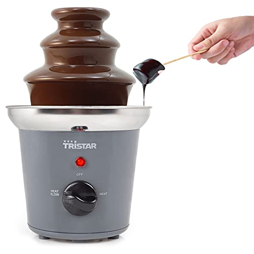Fontana di cioccolato per feste in acciaio inox – Fontana di cioccolato per la casa elettrica 400 g – cascata liscia...