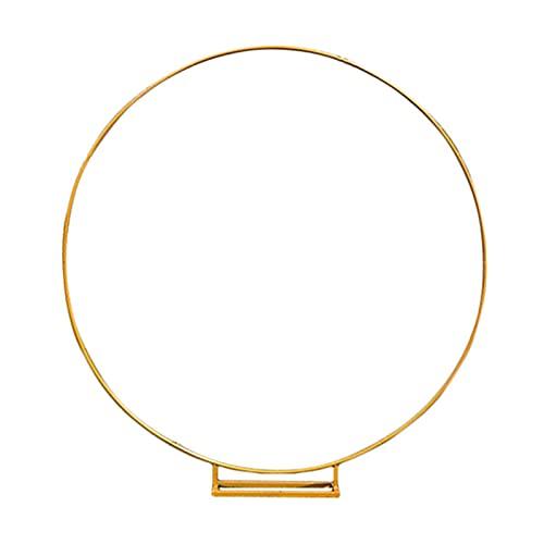 Dzquy, archi da giardino in metallo per esterni, struttura robusta e stabile, moderna, rotonda, ideale come decorazione per prati all'aperto e giardini esterni, oro, 2 m