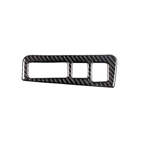 Pasta estilo fibra de carbono Pegatinas del interruptor de la luz de la fibra de carbono del coche Pegatinas decorativas Pegatinas de modificación de interiores Accesorios, adecuados para Cadillac XT5