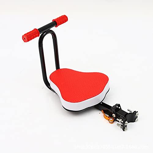 GUTYRE Asiento Delantero, Asiento Infantil para Bicicleta Eléctrica, Asiento De Seguridad para Bicicleta Plegable, Asiento Infantil Delantero Plegable Retráctil Portátil,Rojo