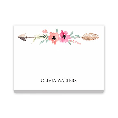 Custom Boho Spirit Post It Notes Personalized Stationery - Set of 6-50 Sheets per Post It Note. Size: 3in x 4in. Made in The USA.