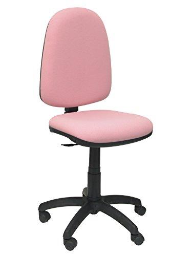 Piqueras y Crespo 04CP - Silla de Oficina ergonómica, Asiento y Respaldo tapizados en Tejido Bali, Color Rosa pálido