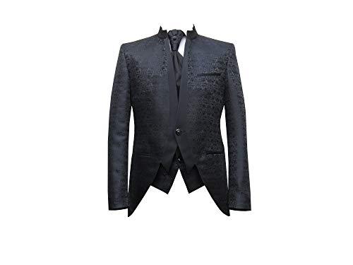 Hochzeitsanzug Gehrock-Cutaway Style 4-teilig Schwarz 68