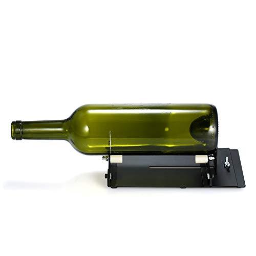 LQCN Cortador de Botellas de Vidrio Herramienta de Corte de Botellas de Bricolaje Ajustable Cortador de Botellas de Cerveza de Vino para portalámparas Lámpara de Vela Maceta, 1 Pieza