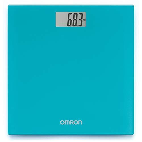 OMRON HN289 - Báscula de baño digital, 5 Kg a 150 Kg, pilas incluidas, color turquesa