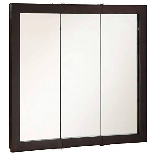 Design House 541359 Ventura Framed Mirrored Medicine Cabinet in Espresso, 36