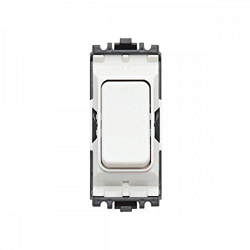 MK Electric Aspect 2-Wege-Schalter, 10 A, aus Porzellan, einziehbar, mit weißem Einsatz