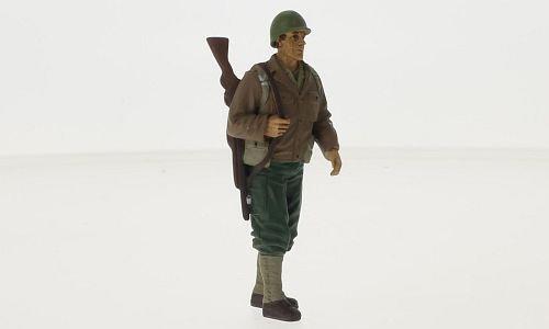 figurine Soldier I, 0, voiture miniature, Miniature déjà montée, Americains Diorama 1:18