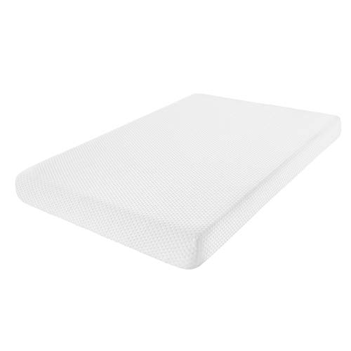Fitted Memory Foam Pack n Play Mattress Pad Portable Playard Mattresses 38X26x3 with Washable Cover Firm Side for Infants Soft Side for Toddlers