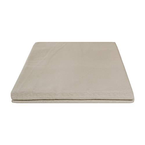 Funda para sofá con lazos de 2, 3 y 4 plazas, de algodón, color liso, para sofá, varios colores (gris pardo de algodón, 4 plazas)