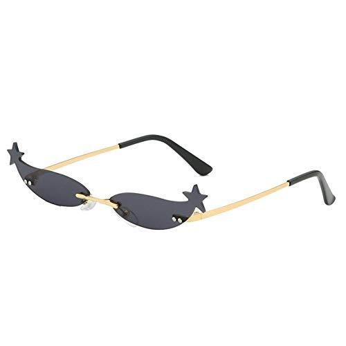 ZZOW Gafas De Sol con Forma De Estrella Y Ojo De Gato Únicas A La Moda para Mujer, Gafas con Lentes Reflectantes con Revestimiento De Espejo, Gafas De Sol Uv400 para Mujer