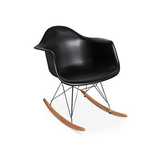 Cadeira Charles Eames Rar - Balanço - Design - Preta