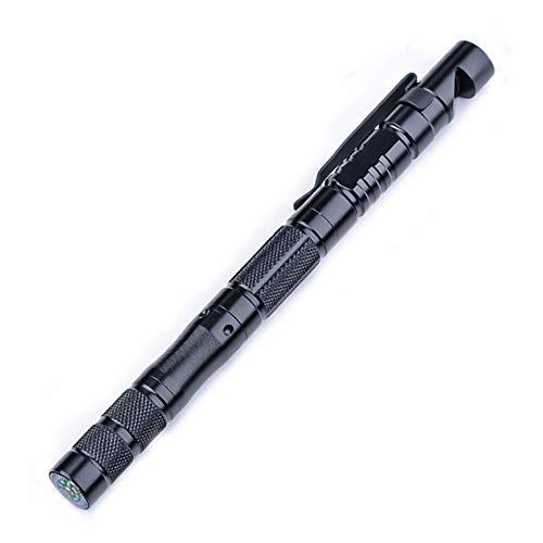 Taktischer Stif, Finsink Tactical Pen Taktische Kugelschreiber Selbstverteidigung Werkzeuge, Feuerstein, Pfeife, Stahlkopf, Kompass, Stift für Frauen und Männer als Geschenke