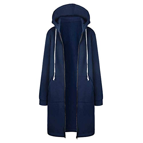 YUNXIANG Frauen Warme Winter Fleece mit Kapuze Parka Mantel Lange Jacke Frauen Outwear Reißverschluss Weibliche Hoodies S-5Xl Plus Größe Sweatshirt
