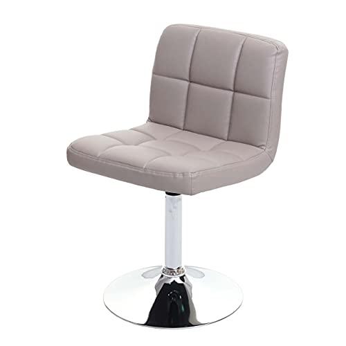 Mendler Sedia Lounge Kavala Ecopelle 48x45x78cm Grigio Tortora