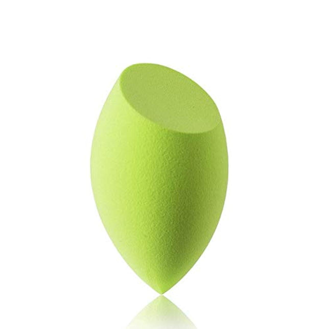 なぜ品揃え願望美容スポンジ、ソフトブルー、グリーン美容エッグメイクブレンダーファンデーションスポンジ (Color : グリンー)