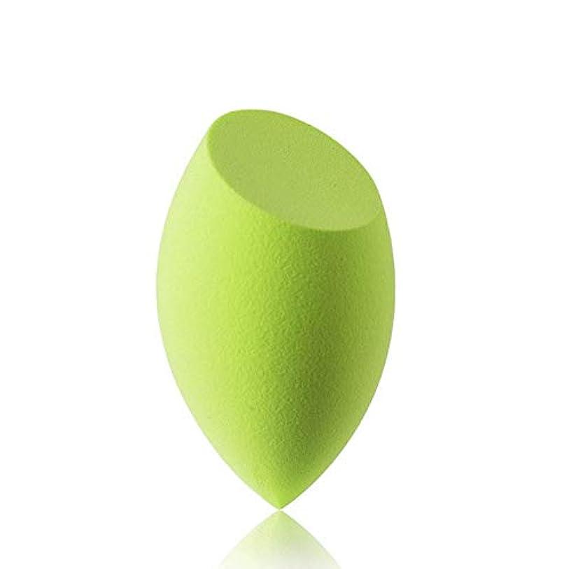 扇動する品種能力美容スポンジ、ソフトブルー、グリーン美容エッグメイクブレンダーファンデーションスポンジ (Color : グリンー)