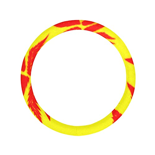 Cubierta para volante con inserto antideslizante para fondo de pelota de baloncesto color naranja, transpirable, antideslizante, universal, 15 pulgadas, funda universal para volante de coche