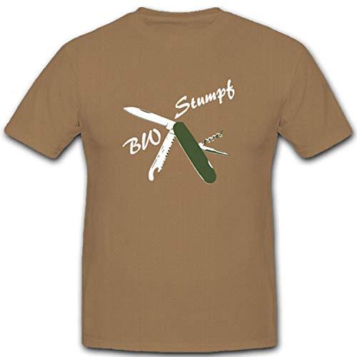 Bundeswehr Bw Stumpf Ewigstumpf Taschenmesser Billigtaschenmesser- T Shirt #4562, Größe:XXL, Farbe:Sand