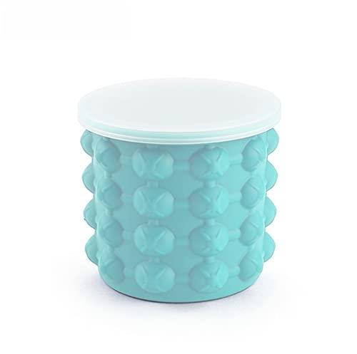 Bandeja del cubo de hielo del cubo de hielo, fabricante de cubos de hielo, 2 en 1 Cubo de hielo de silicona para el refrigerador del cubo de hielo para el vino para el bar de la casa ( Size : 600ml )