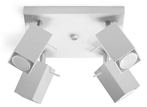 SOLLUX Lighting Merida 4 Plafond, Acciaio, Bianco