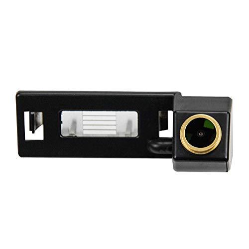 HD Telecamera posteriore D'oro retromarcia Fotocamera 1280 * 720p Retrocamera impermeabile Visione Notturna per Audi A1 A4 B8 A5 5D S5 TT Roadster Q5 RS Coupe Cabriolet/Skoda Superb Skoda Yeti 2013
