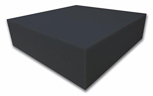 Dibapur ® Akustikpur glatt schwarz Raum Akustik Schaumstoff Dämmung Schallschutz (100x200x8cm)