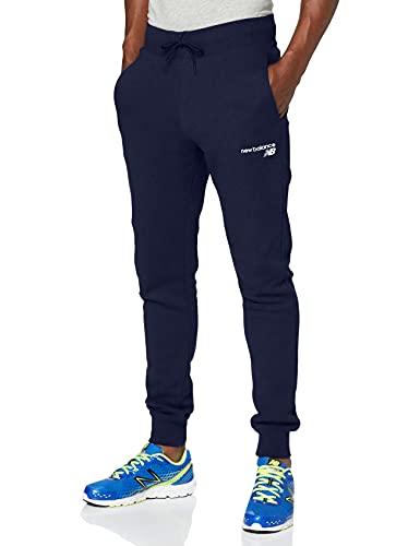 New Balance Pantalones de forro polar para hombre Nb Classic Core, Pantalones, MP03904, Pigmento, L