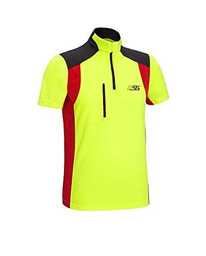 PSS X-Treme Skin Kurzarmshirt, in gelb/rot, Größe M