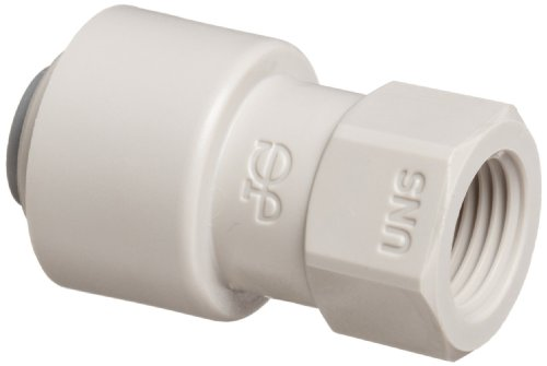 John Guest Acetal Copolymer Tube Fitting, Tap Adaptor, 1/4