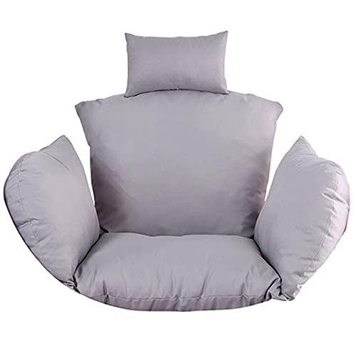 Hammock Chairs Cushion, Outdoor Egg Swing Cushion Thick Hanging Egg Rattan Chair Hammock Pad for Outdoor Patio Garden Swing Chair Cushion Seat Pads (Grey)